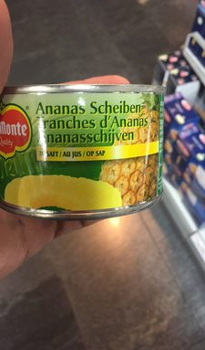 Tranches d'Ananas : au Jus