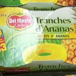 Tranches d'Ananas au jus d'Ananas