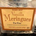 Vanilla meringues fat free