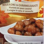 Wild Gibier Selvaggina Marrons en sauce caramel