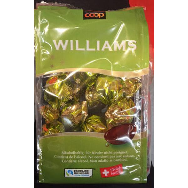 Williams Chocolat au lais suisse fourré à la liqueur de williams