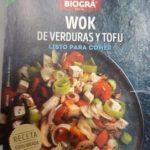 Wok de verduras y tofu