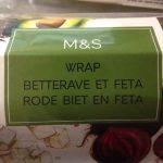 Wrap Betterave Feta