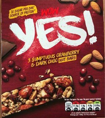 YES! Cranberries et Chocolat Noir