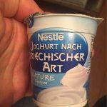 Yaos yaourt grec nature sucré