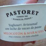 Yoghourt con Melocotón y Maracuyá