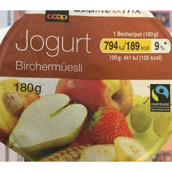 Yogourt Birchermuesli
