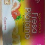 Yogur Sabor Fresa y Platano
