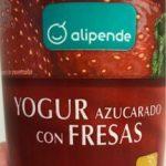 Yogur azucarado con fresas