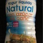 Yogur líquido natural con azúcar de caña