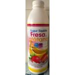 Yogur liquido fresa y platano