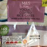 Yogurt coated rice cakes