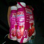 Yogurt líquido desmayado fresa