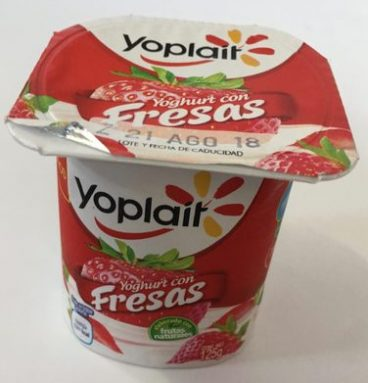 Yoplait Yoghurt con fresas