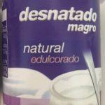Your desnatado natural edulcorado