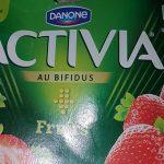 activia fruit fraise