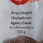 arroz integral hinchado con agave y cacao
