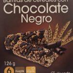 barritas de cereales con chocolate negro