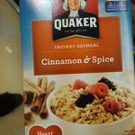 cinnamon & spice instant oatmea