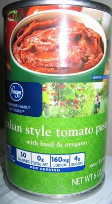 italian style tomato paste