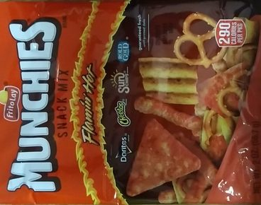 munchies snack mix: flamin' hot flavored