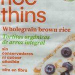 organic rice thins