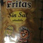 patatas fritas sin sal añadida