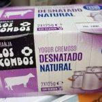 yogur cremosa desnatado natural