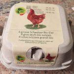 4 gros oeufs bio suisses