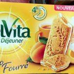 BelVita Petit Déjeuner Duo Fourré Abricot Yaourt & 5 céréales complètes