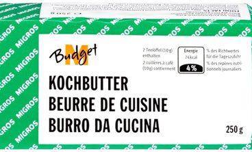Beurre de cuisine M-Budget