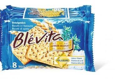 Biscuits Blévita Thym-sel marin.