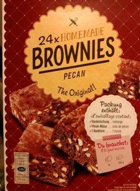 Homemade brownies pecan