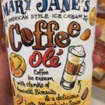 Mary-Jane's American style ice cream Coffee olé