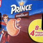 Prince goût chocolat 8+4 paquets gratuits
