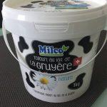 Yogourt nature au lait de la gruyère