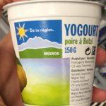 Yogourt poire à Botzi